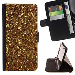 - Gold Shiny Glitter Yellow Coins Treasure - - Prima caja de la PU billetera de cuero con ranuras para tarjetas, efectivo desmontable correa para l Funny HouseFOR Sony Xperia Z3 D6603