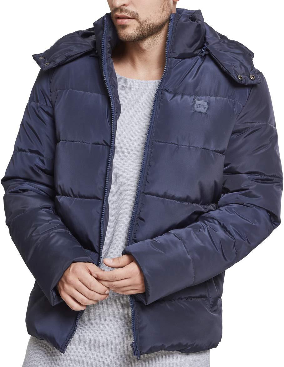 Urban Classics Herren Daunenjacke Winterjacke Hooded Puffer Jacket, Steppjacke gefüttert mit Kapuze TB1807