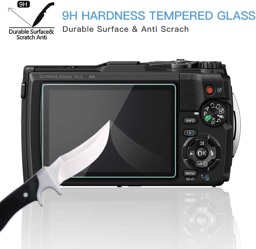 9H Glass Protector Matte brotect Anti-Glare Glass Screen Protector compatible with Olympus OM-D E-M10 Mark III