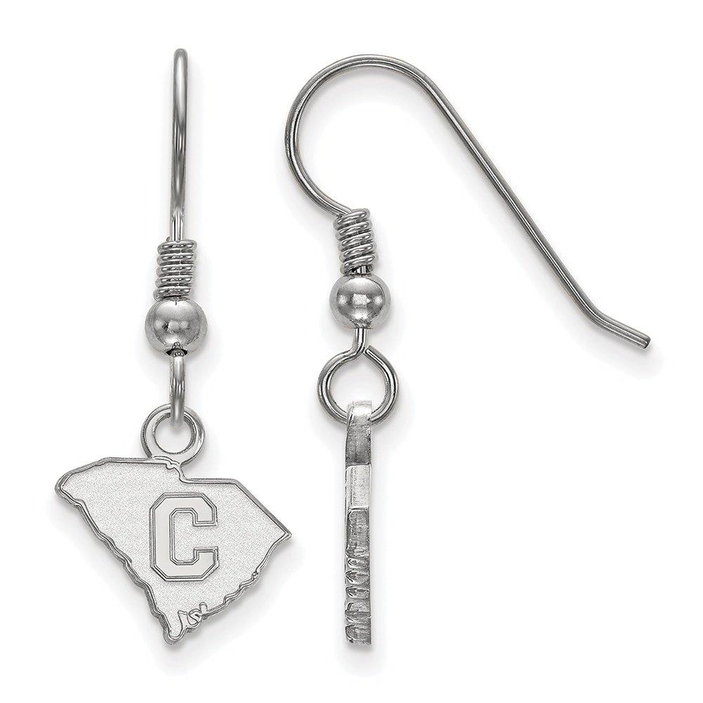 Lex /& Lu LogoArt Sterling Silver The Citadel XS Dangle Earrings