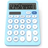 Desk Calculator, GUYUCOM Dual Power Calculators with 12-Digit Large LCD Display
