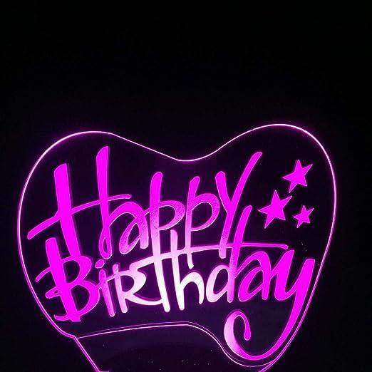 Luz Nocturna 3D Feliz Cumpleaños Feliz Día De Nacimientos ...