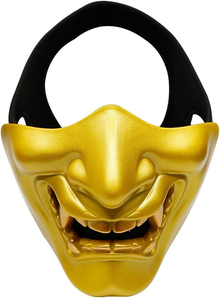 SGOYH Máscara de media cara para cosplay de Halloween, máscara protectora para airsoft, paintball, pistola, juego de CS ideal