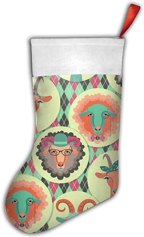 Amazon Com Ksschr Goat Sheep Tribal Symbol Christmas Stocking Home Party Decorate