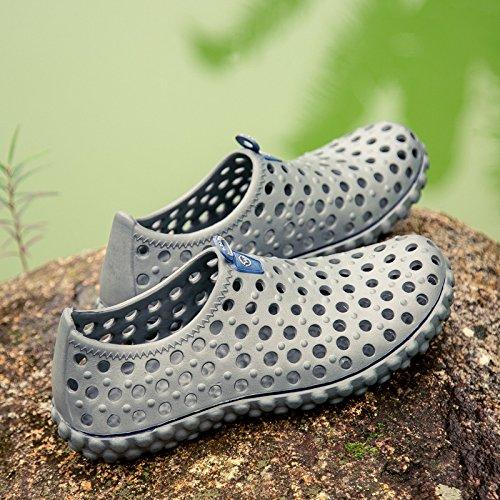 Cáqui Cores Prata Verão Azul Respirável Sandálias Crocs Homens prata Preto Cinza Praia Eu45 moda Confortáveis Sapatos Pn74q8S