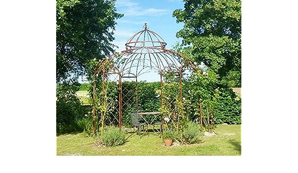 Pabellón Estable de hierro oxidado. Diámetro 290 cm: Amazon.es: Jardín