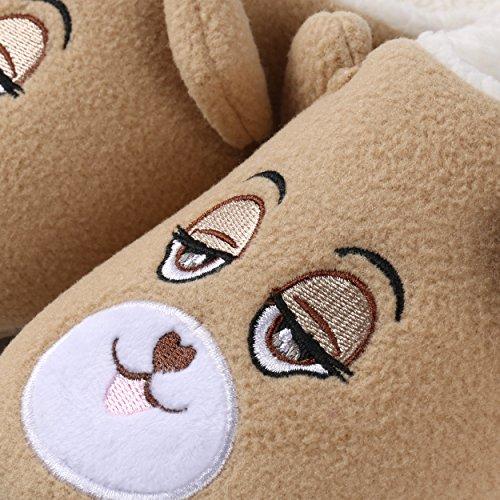 Aerusi , Damen Hausschuhe Brown Bear