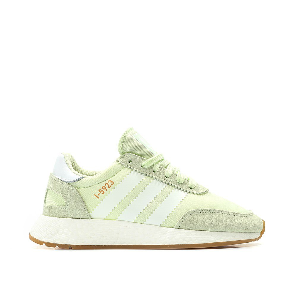 adidas Iniki Women's Off-White Sneakers B078TQZTDV 5.5 M US|Green / White