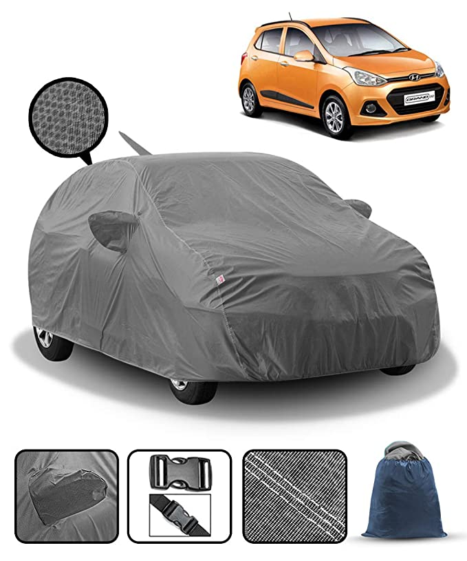 QUALITY WATERPROOF CAR COVER HEAVY DUTY COTTON LINED LUXURY HYUNDAI i10 2014+