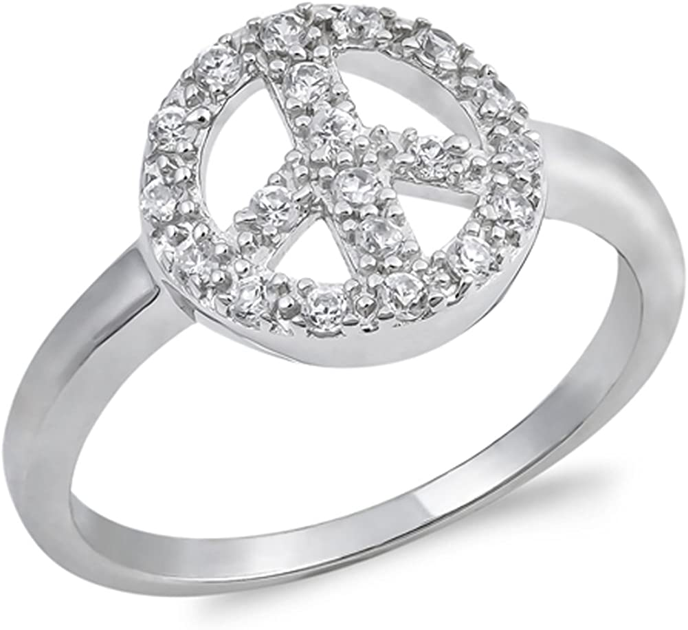 Sterling Silver .925 Women/'s Clear CZ Cushion Cut Engagement Ring size 5-9