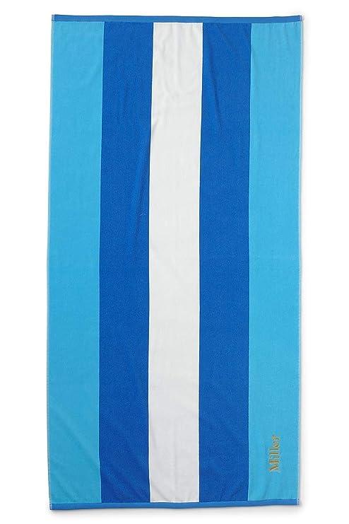 Lands End Beach Towels.Lands End School Uniform Rugby Stripe Beach Towel Blue