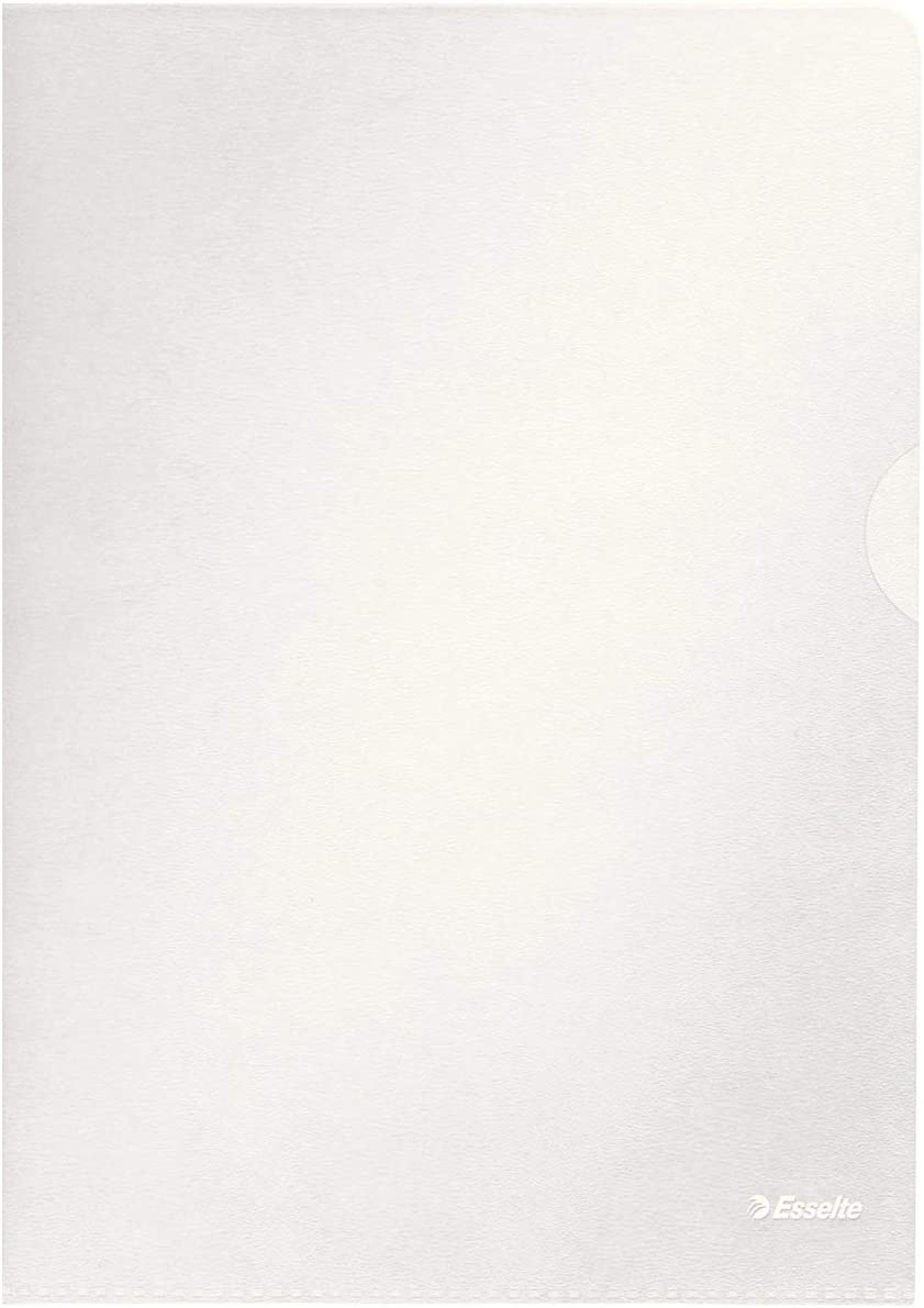 Esselte Dossier Premium A4, Transparente Mate, Polipropileno de 115 Micras, Pack de 100, 54832