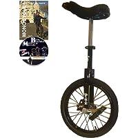 Dodo Monocycle 16 pouces (40cm) NOIR pour les enfants à partir de 7 ans + DVD offert