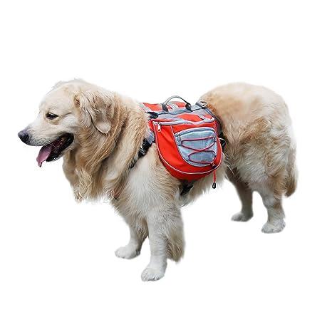 Mochila impermeable ajustable para mascotas con arnés para perros medianos y grandes