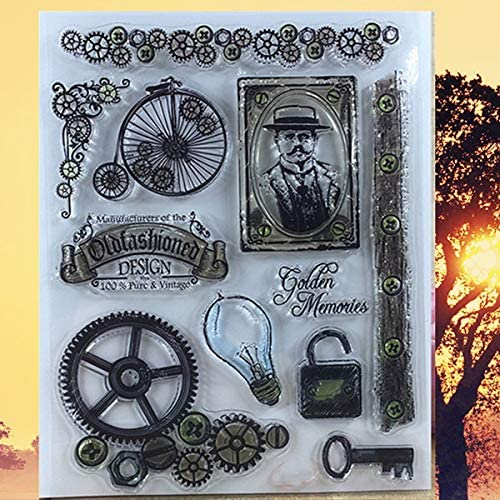 Amazon.com: Salemi 1418cm Calendar Happy Birthday Clear Stamps English Words Family Stamp lace Letter Clear Stamps for DIY Scrapbooking Tool - (Color: Edison): Arts, Crafts & Sewing
