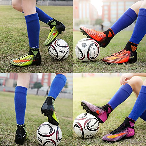 VITIKE Football Boots Sneakers Professional Outdoor Soccer Shoes Teenagers Training Shoe(EU40-Green) qLd0TSwFqf