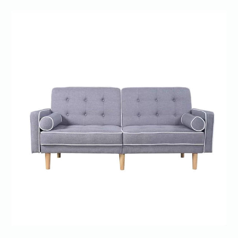 Light Grey Linen Sofa Yaser Vtngcf Org
