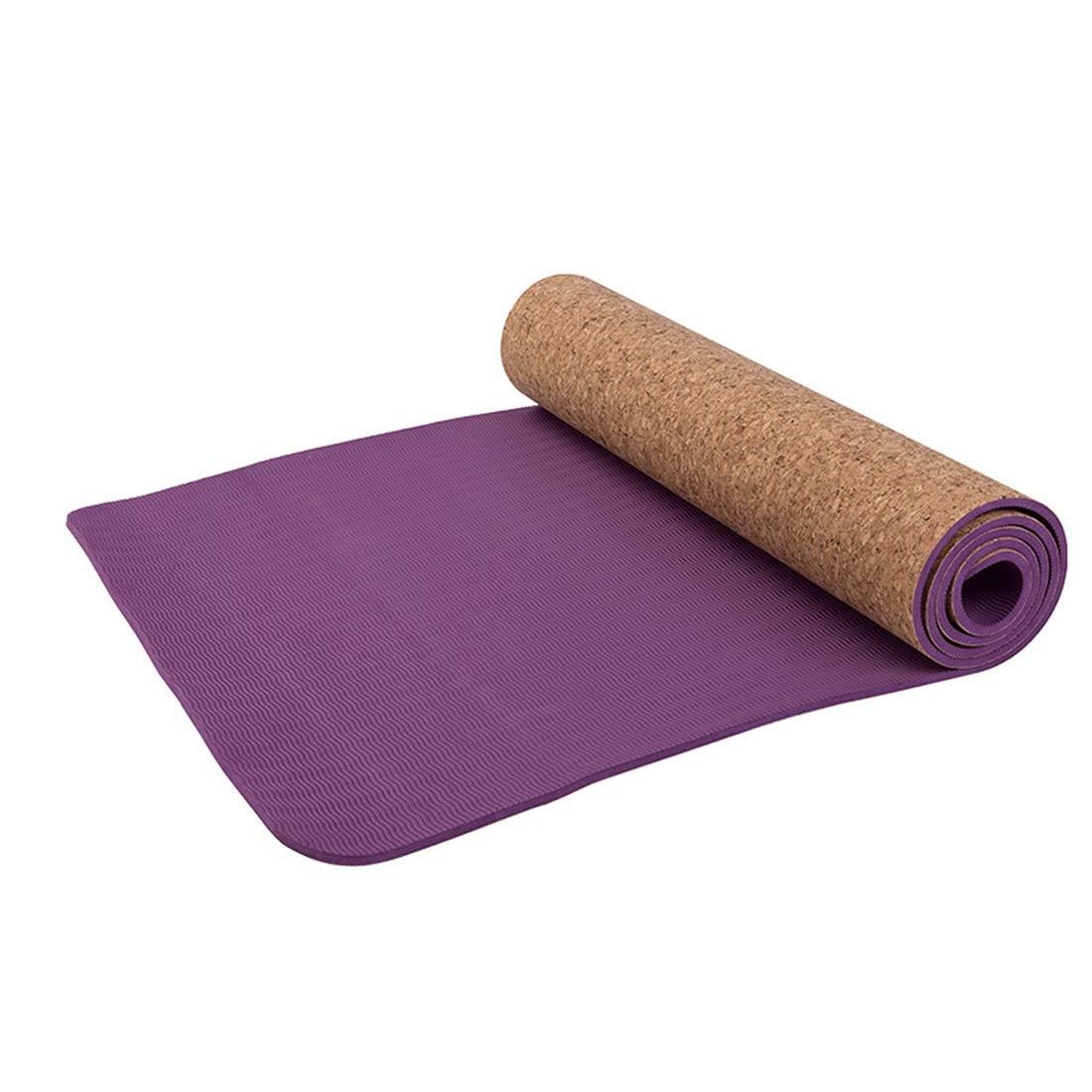 AROTOVL Yogamatte Tpe6mm umweltfreundliche köstliche Fitnessmatte Yogamatten-Turnhallenfamilie. (Größe   60cm)