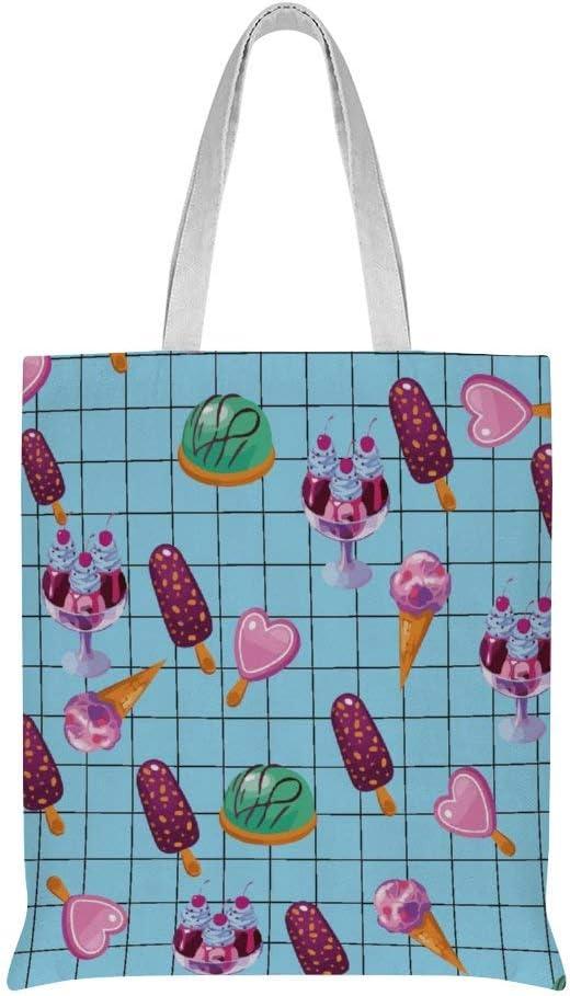 Student Backpack Unisex College Bookbag Back Bag Cookies Lollipop Cupcakes Candy Ice Cream School Bag