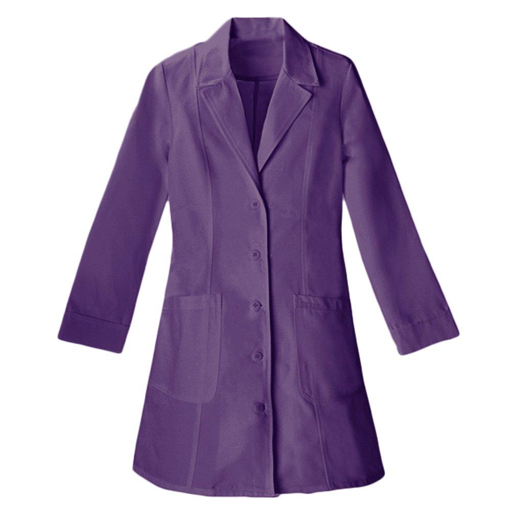 Panda Uniform Made to Order Women's 36 Inches Nursing Long Lab Coat-Purple-M