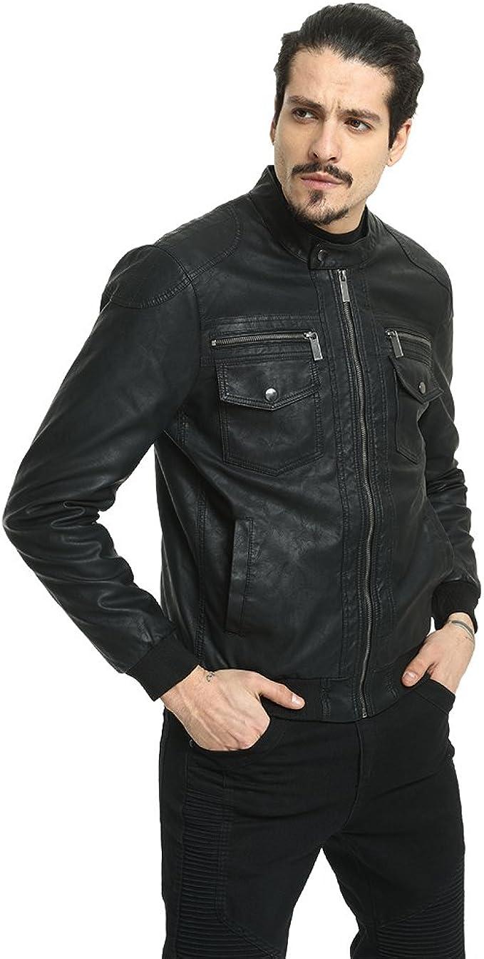 Amazon.com: puremsx de hombre Jacekt, de piel de invierno ...