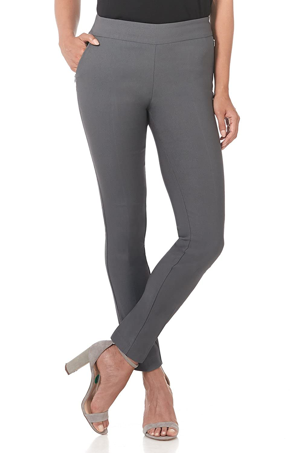 Graphite Rekucci Women's Ease in to Comfort Modern Stretch Skinny Pant w Tummy Control