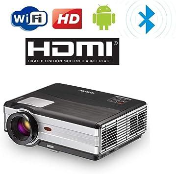 4000 Lumen Proyector WiFi Bluetooth Inalámbrico HD 1080P Soporte LED Home Cinema Proyectores de Cine al