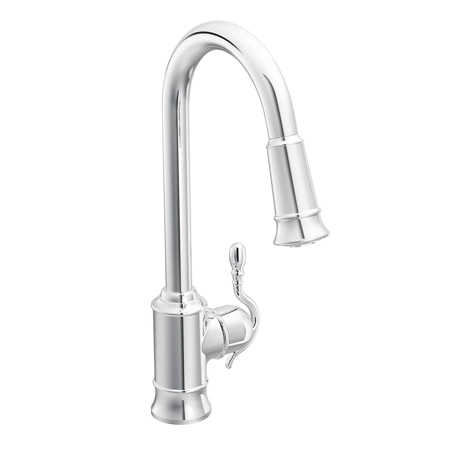 Moen 7615C Woodmere e Handle High Arc Pulldown Kitchen Faucet