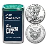 2018 1 oz Silver American Eagles (20-Coin MintDirect® Tube) 1 OZ Brilliant Uncirculated