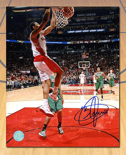 Bruno Caboclo Toronto Raptors Signed First Career Basket 8x10 Photo - Authentic Signed Autograph