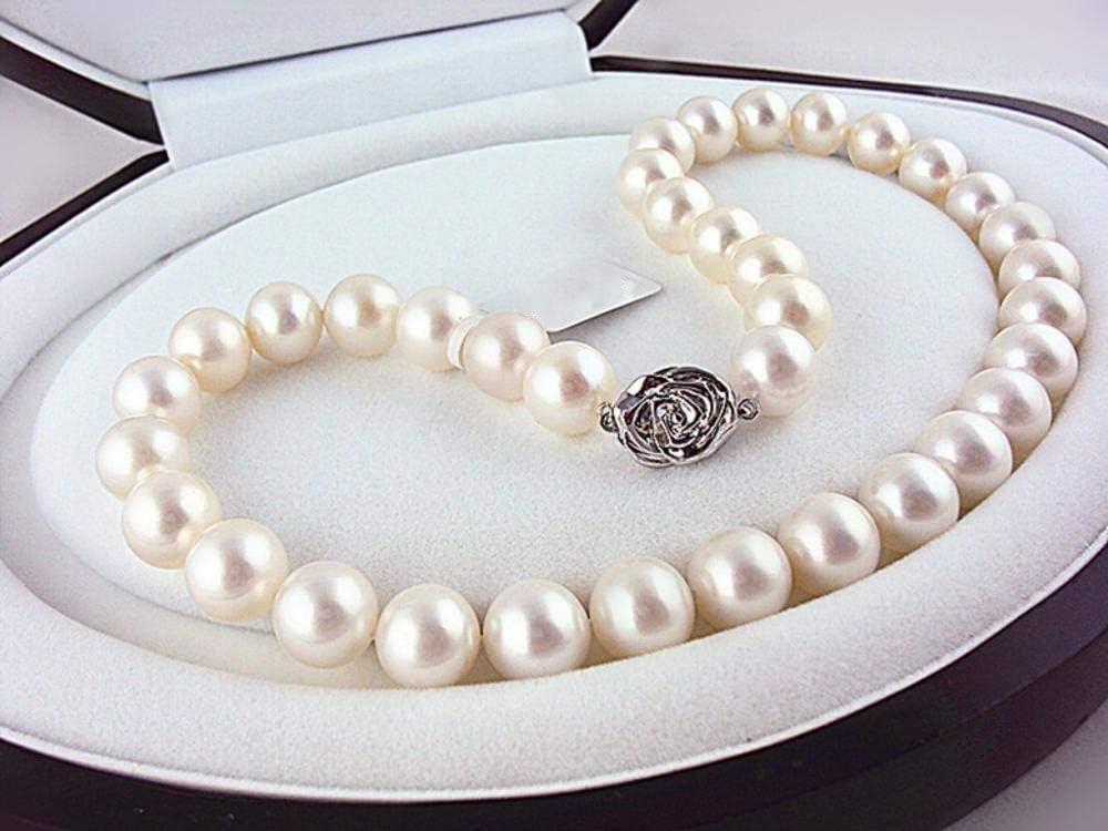 Lnyy Collar de Perlas de Lujo de Pearl Jewels Supre de Lujo de Gran tamaño Collar de Perlas de Agua Dulce de Terracota Redondo
