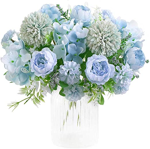 Amazon Com Kirifly Artificial Flowers Fake Peony Silk Hydrangea