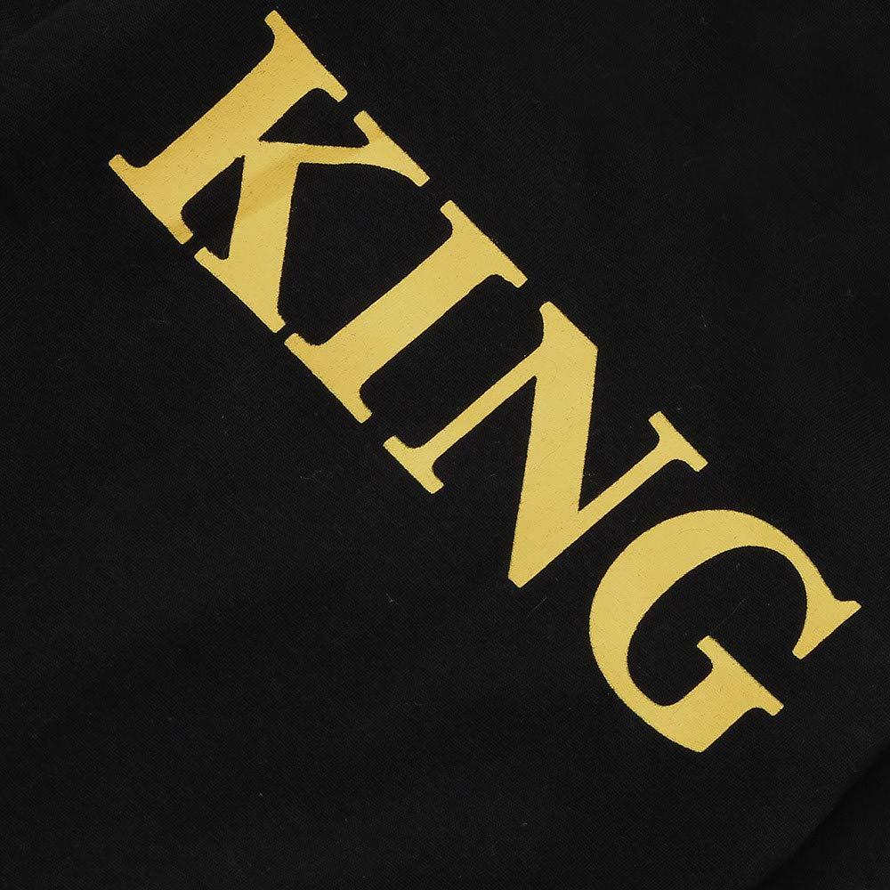 HEETEY Baby M/ädchen Junge Mode l/ässig Winter Mit Kapuze Brief Strampler Overall Brief King Kapuzen-Kleidung Outfits