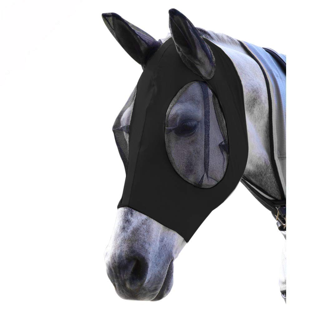 MOLLY FRASER Horse Fly Mask, Quiet Ride Standard, Fine Mesh Horse face Mosquito Cover,Black by MOLLY FRASER