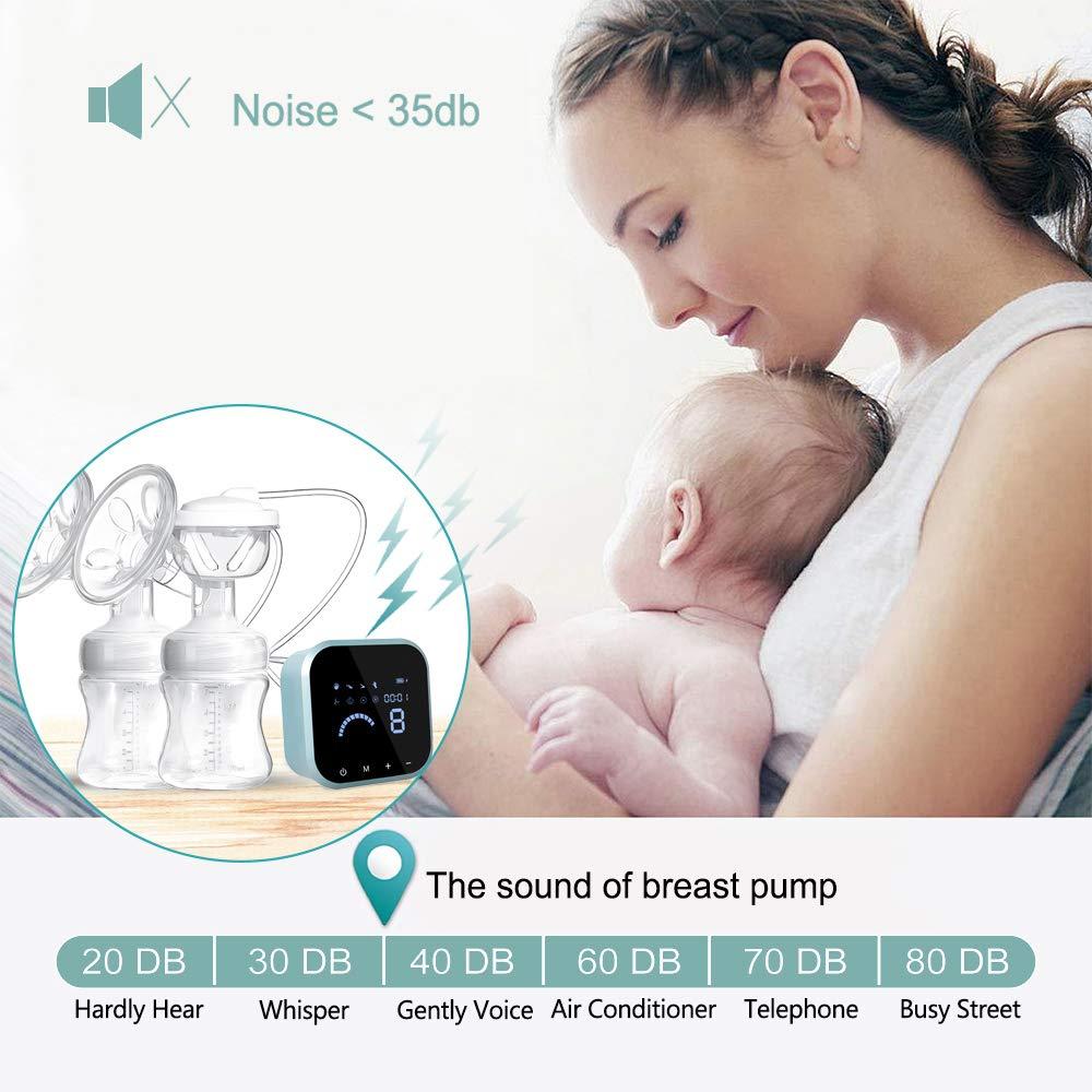 Amazon.com: SUMGOTT - Bomba eléctrica de lactancia materna ...