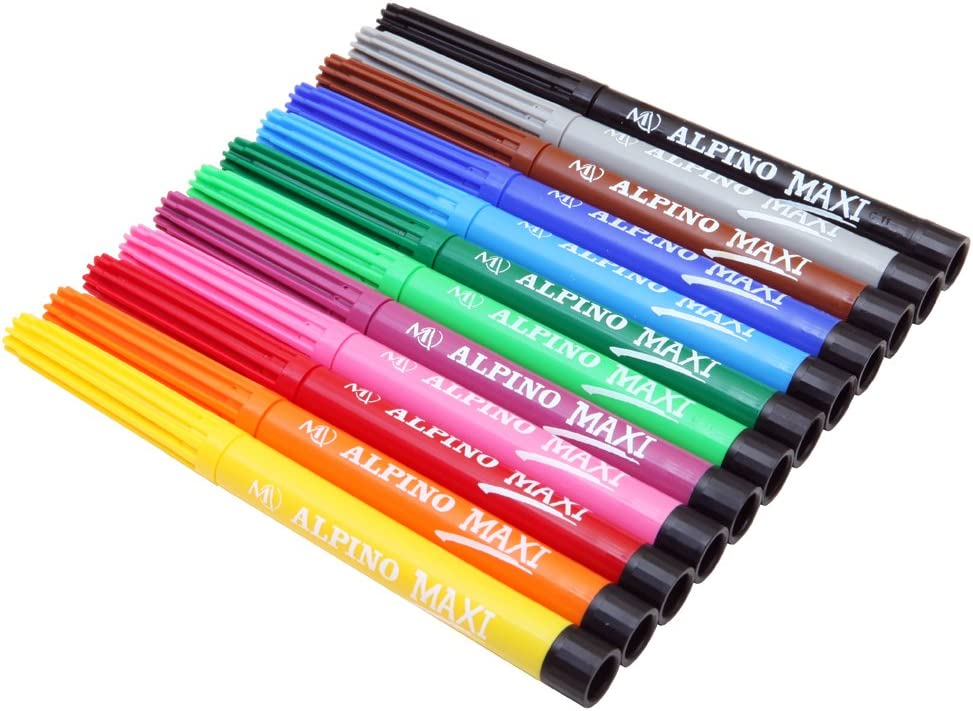 Alpino AR000006 - Estuche 12 rotuladores, Multicolor: Amazon.es: Oficina y papelería