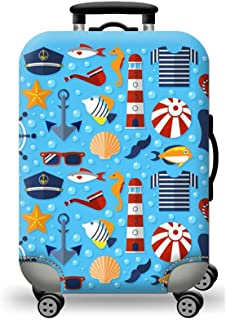 Sulida® Housse de valise bagage en tissu Élastique Bagages Couverture Imprimé Valise Couverture Protecteur housse de bagage 6 motifs pour choisir