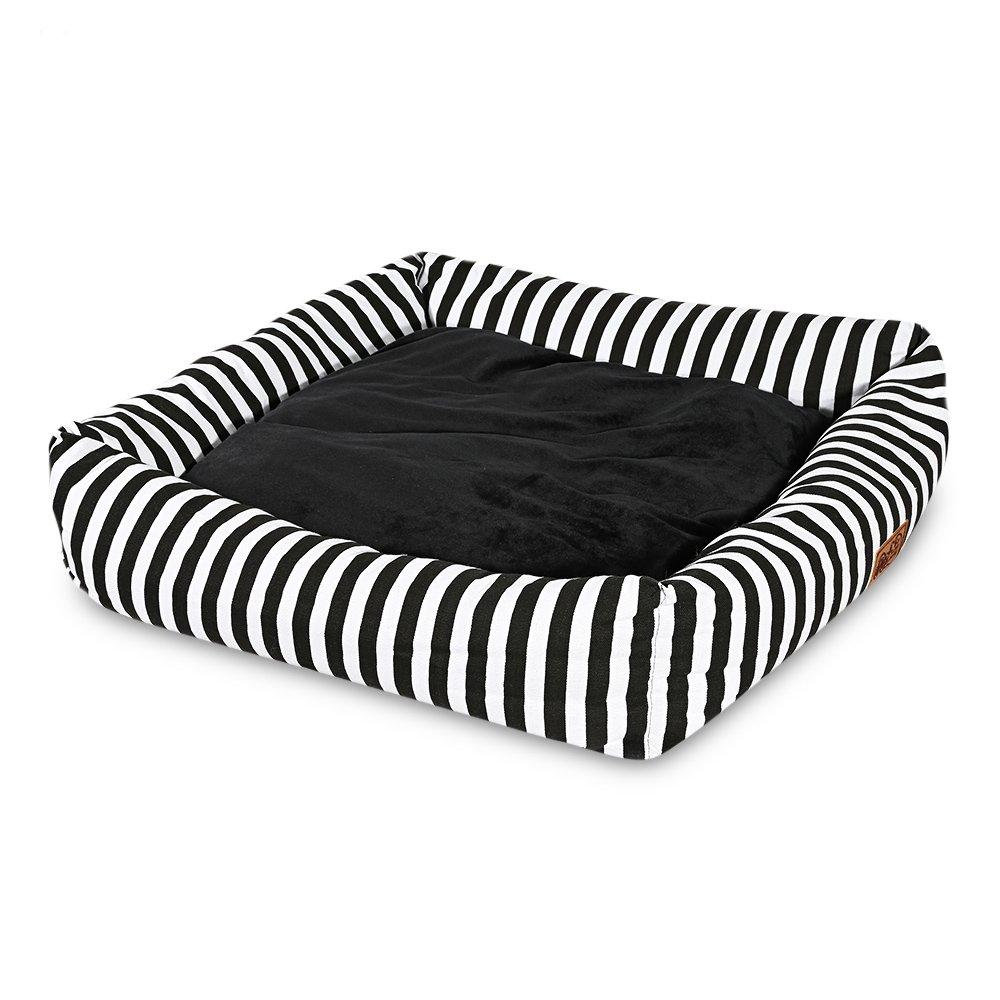 sconto prezzo basso SHUFAGN,Cuscino Morbido per Animali Animali Animali Domestici Cuscino Teddy con Cuscino(Colore Nero Bianco,Dimensione S)  distribuzione globale