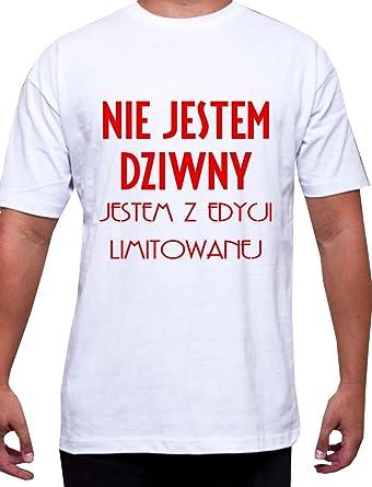 Nietypowy Okaz KOSZULKA POLSKI MENS POLISH T-SHIRT TSHIRT TEE Nie Jestem Dziwny NK99