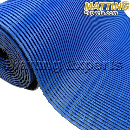 VinGrate Mat Wet Area Floor Matting for Swimming Pool Shower/Locker Room Bathroom Sauna SPA 4-Way Water Drain Indoor/Outdoor Use 3/8'' Thick Non-Slip Comfortable on Barefoot (3' x 10', Navy, 1)