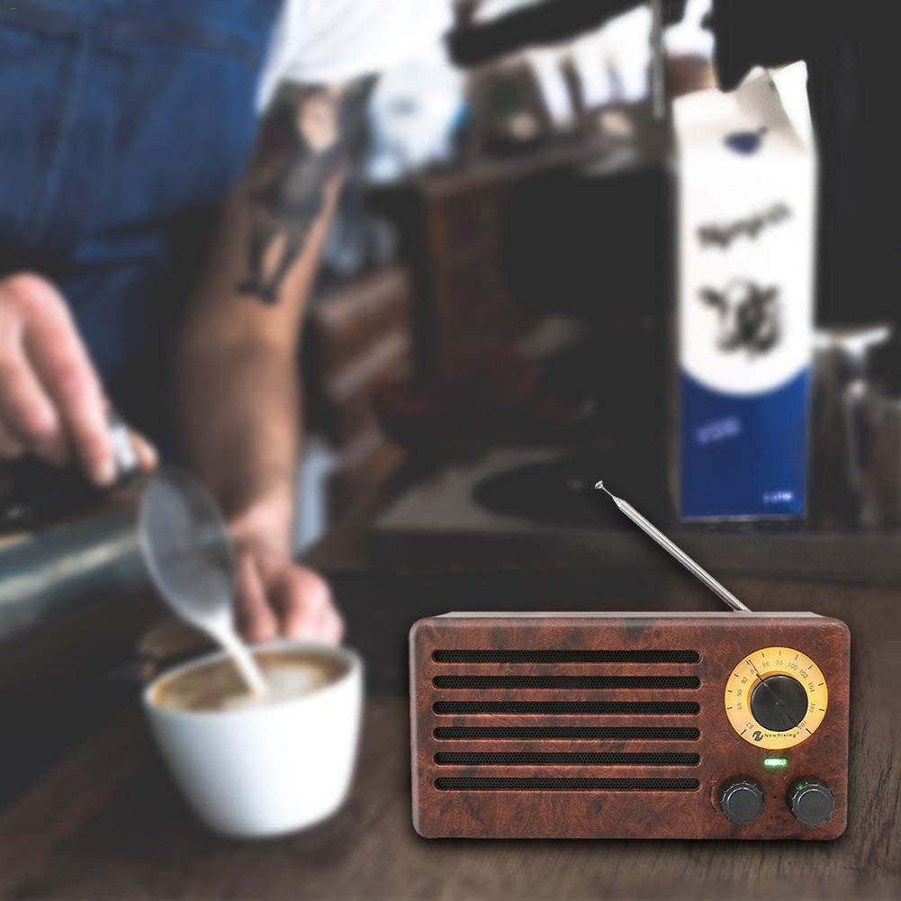 Shantan Wood Grain Speaker Bluetooth Wireless Radio fm am Home Outdoor Retro subwoofer Speakers Audio Super bas Louder Hands-Free mic 1800mah Fashion Portable Mini
