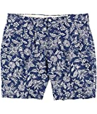 RALPH LAUREN Polo Men's 9'' Floral-Print Stretch Chino Shorts (Blue Antique, 42)
