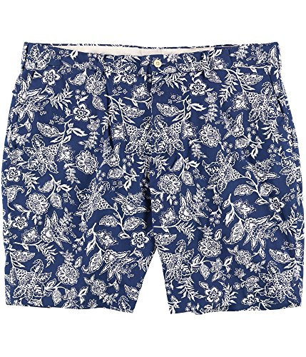 RALPH LAUREN Polo Men's 9'' Floral-Print Stretch Chino Shorts (Blue Antique, 42) by RALPH LAUREN (Image #1)
