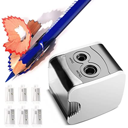 Sacapuntas eléctrico (normei doble agujeros, Batería Powerd o USB ...