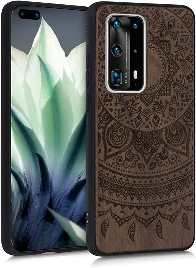 P40 Pro P30 Waves Merbau P10 P Smart and other Mate 30 P20 Real Natural Wood Case Wooden Case for Huawei  P40 P40 Lite