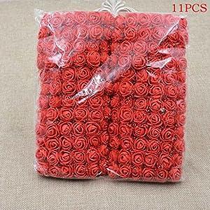cokil 11 Pcs/72 Pcs Foam Artificial Flowers Fake Rose Bouquet DIY Wedding Party Home Decoration Artificial Flowers 20