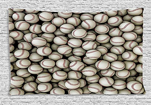 Sports Decor Collection Baseballs Sport Emblem Major League Competition Softball Field Artwork Bedroom Living Room Dorm Wall Hanging (Major Egyptian Gods)