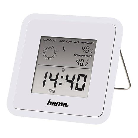 Hama TH50 Termómetros Ambientales, Blanco, 11x8.70x3 cm