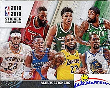 47fba9349 2018 19 Panini NBA Basketball MASSIVE 50 Pack Factory Sealed Sticker Box  with 250 Brand New ...