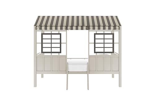 Little Seeds Rowan Valley Forest Loft Bed, Grey Taupe, Twin